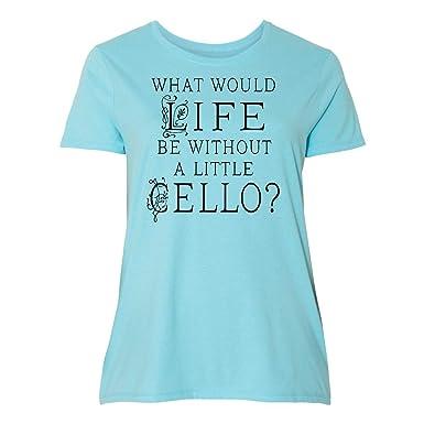 a1f9dfa83 Amazon.com: inktastic - Cellist Music Gift for Cello Player Women's Plus  Size T-Shirt 34d64: Clothing