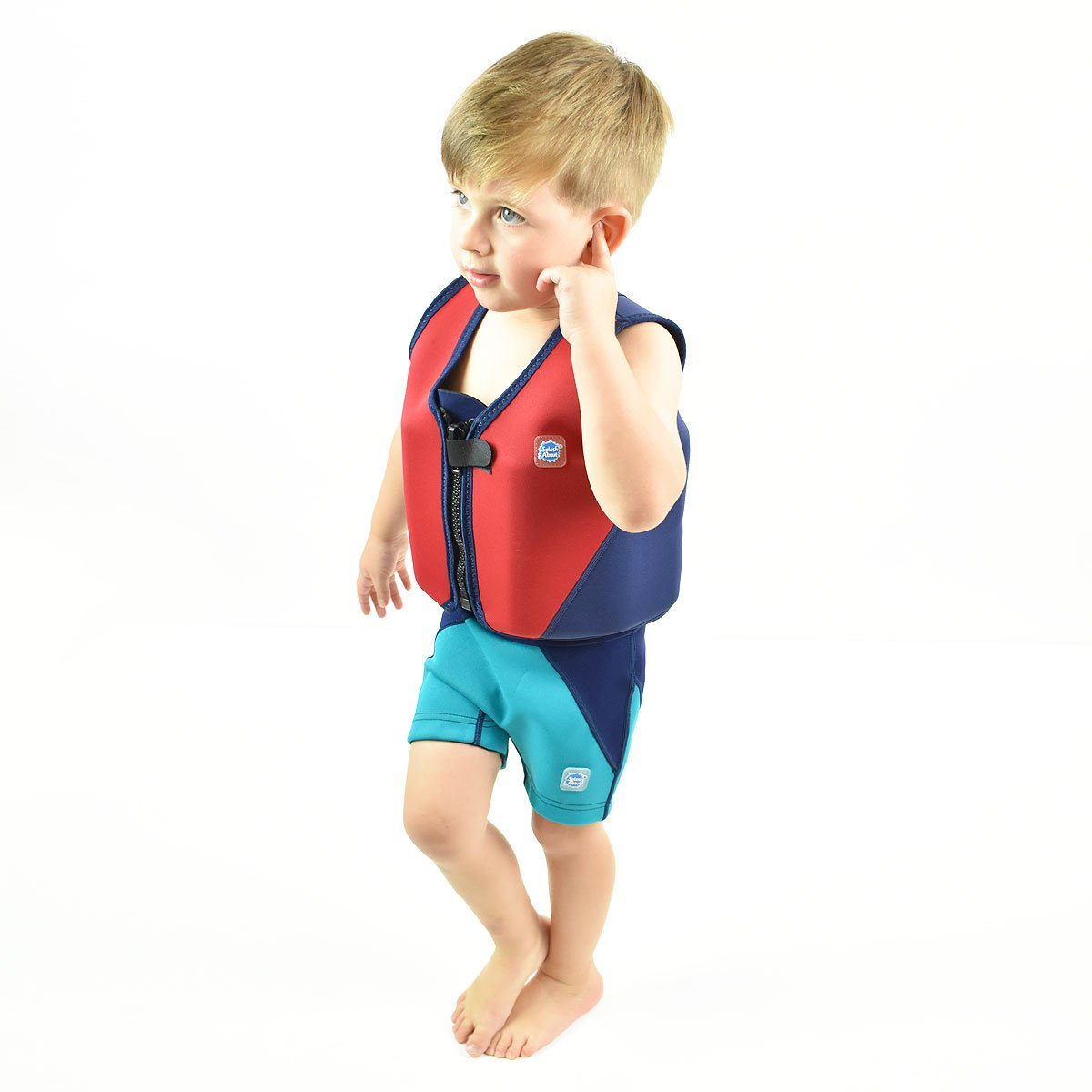 Amazon.com: Splash About Neoprene Float Jacket with adjustable buoyancy (swimming aid), Red & Navy, 6 to 10 years: Clothing