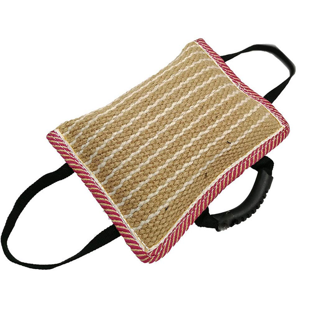 Bite Pillow with 3-Handles Jute Size  11.8-Inch by 7.8-Inch
