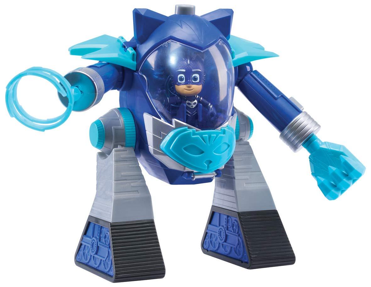PJ Masks-Robot Turbo Movers Gatuno, Color Azul (Bandai JP95506)