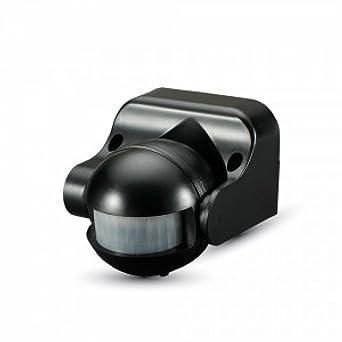 V-TAC SKU.5077 detector de presencia orientable IP44 negro vt-8003,