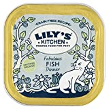 Lily's Kitchen Organic Fish Dinner Complete Wet Food for Cats 100g (Pack of 16)