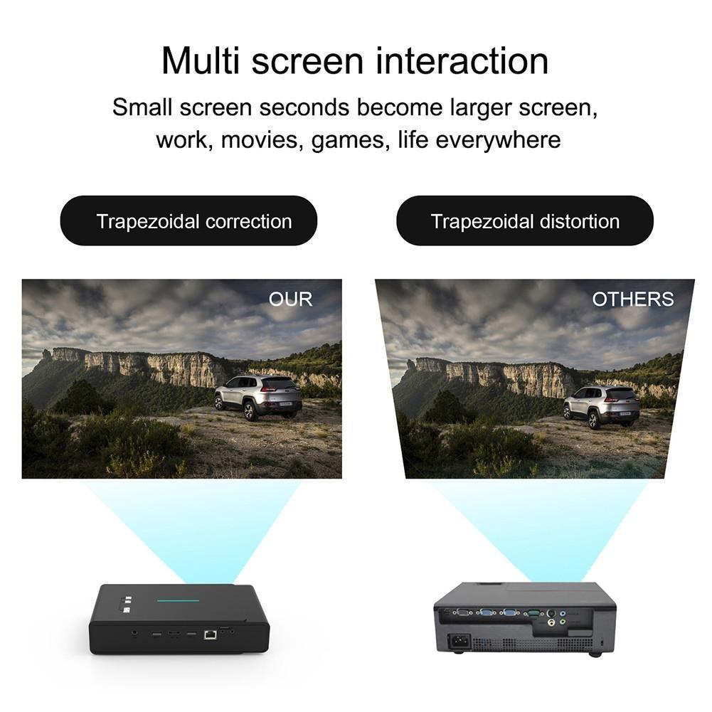 Proyector portátil, TOUMEI V5 3800 lúmenes Mini 3D Proyector 4K ...
