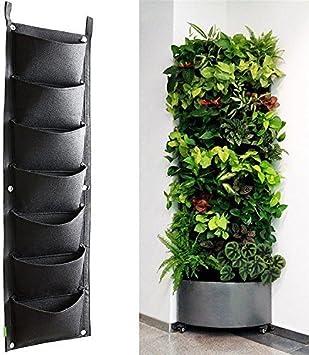 Plantar Bolsas, XGZ 7 bolsillo vertical montado en la pared mimbre ...