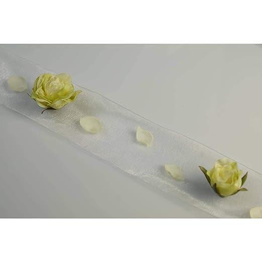 artplants.de Camino de Mesa con Rosas y pétalos Decorativos ...