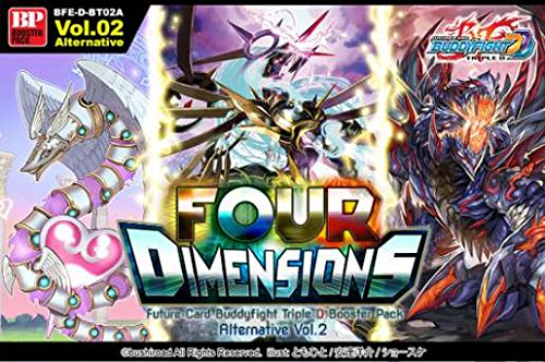 BuddyFight Triple D Four Dimensions Alternative V2 Booster Box - 30 packs / 5 cards by Future Card Fight Buddyfight
