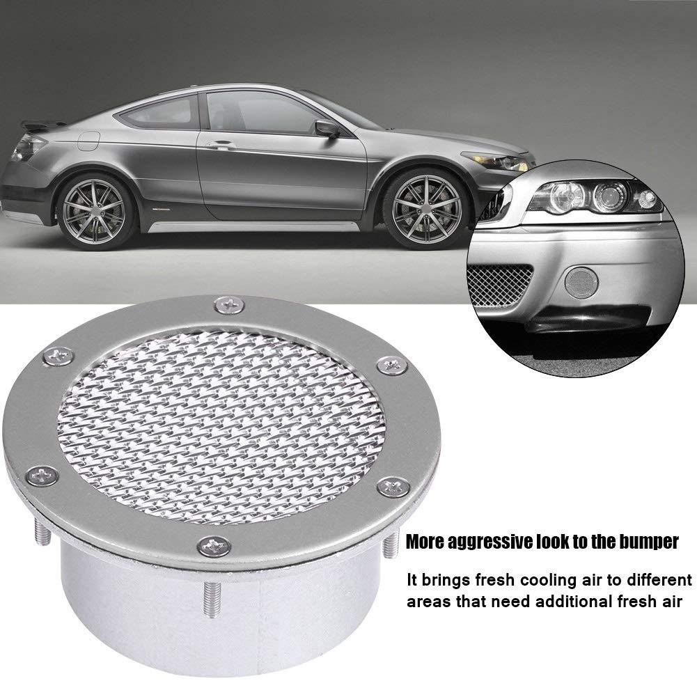 Broco Universal Car da corsa Air Duct Griglia paraurti Vent Ingresso for presa dellaria fredda argento