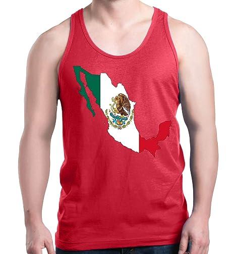0ad3fc441410e Amazon.com  Shop4Ever Mexico Map Flag Men s Tank Top Cinco De Mayo Tank Tops   Clothing