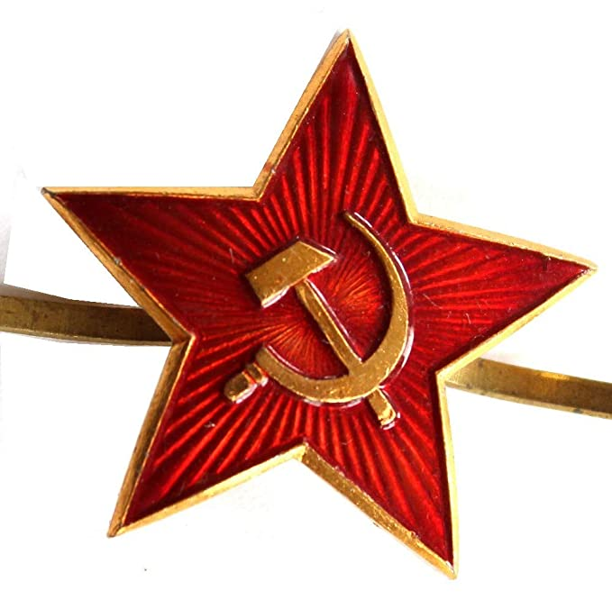 277c51b53b7 Image Unavailable. Image not available for. Color  Russian USSR Soviet Red  Army Star Hat Pin Cap Badge Kokarda  ...