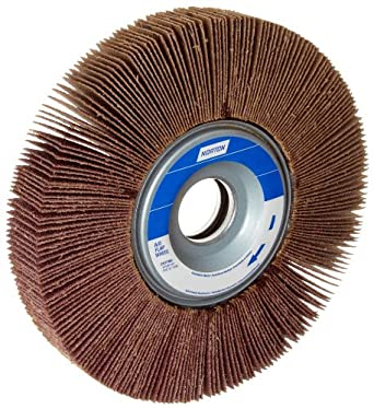 "Norton Metalite R265 Abrasive Flap Wheel, 1"" Arbor, Round Hole, Aluminum Oxide, 6"" Dia., 2"" Face Width, Grit 80, 6200 Max RPM (Pack of 1)"