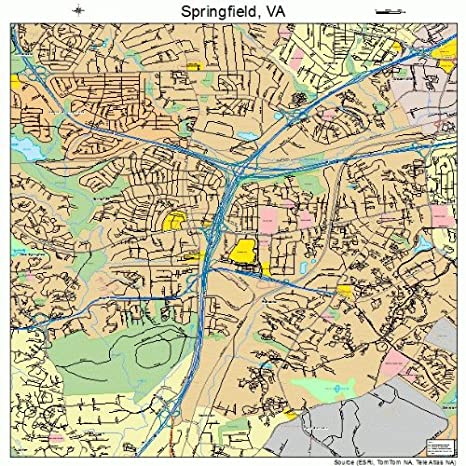 Amazon.com: Image Trader Large Street & Road Map of Springfield ...
