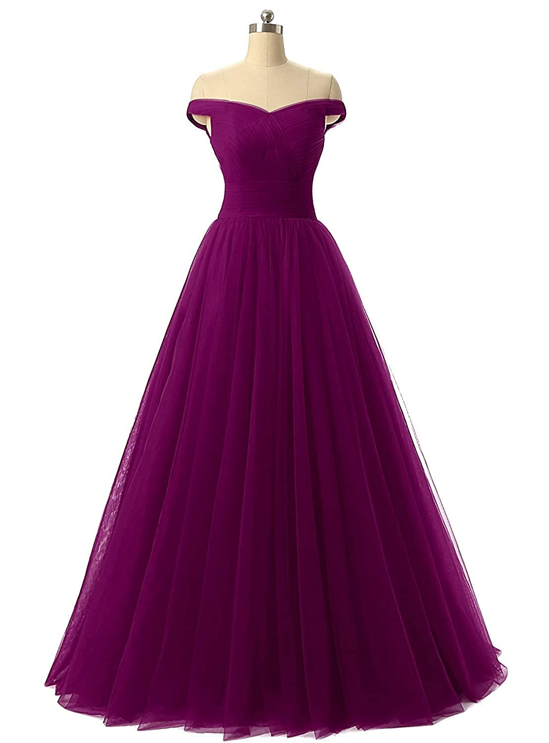 Dark Purple Diydress Aline Tulle Prom Formal Evening Homecoming Dress Ball Gown