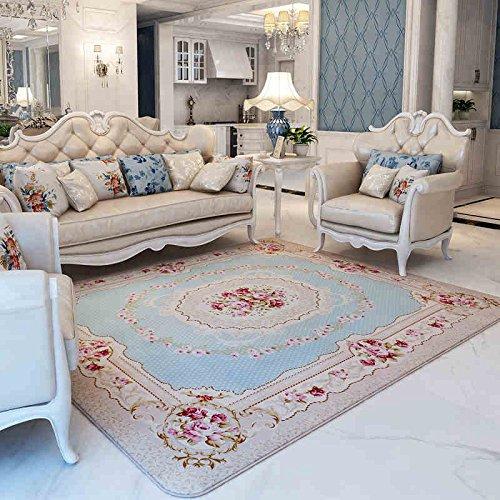 GRENSS 200 cm * 240 cm Romantisch rosa Rose Wolldecke für Wohnzimmer, eleganten amerikanischen Landhausstil Teppich Schlafzimmer, Wolldecke und Mat, B, 200cmx240cm