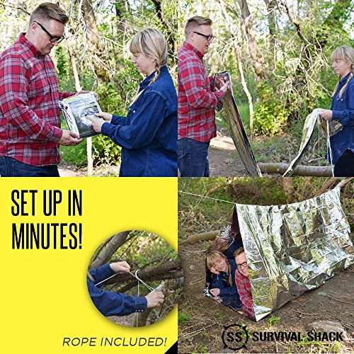 Amazon.com Survival Shack Emergency Survival Shelter Tent | 2 Person Mylar Thermal Shelter | 8u0027 X 5u0027 All Weather Tube Tent | Reflective Material Conserves ... & Amazon.com: Survival Shack Emergency Survival Shelter Tent | 2 ...