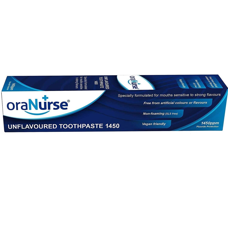 Oranurse 50ml Unflavoured Toothpaste (Pack of 6) by Oranurse