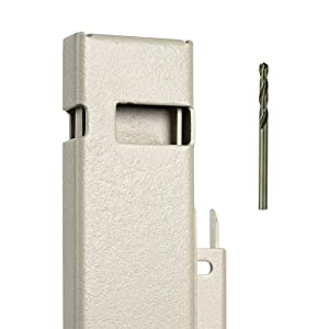 "File Cabinet Locking Bar with Drill Bit - Beige - 22.5"" Long - for use on a 2 Drawer File Cabinet"