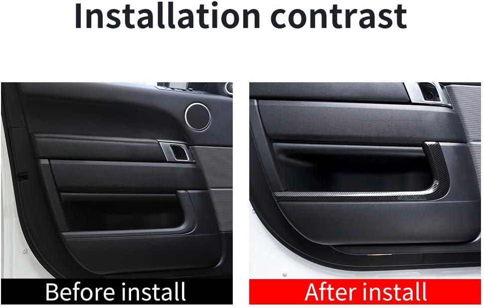 YIWANG Carbon Fiber Style ABS Innenraum-T/ür-Dekorationsstreifen f/ür RangeRover Sport 2014 2019 Autozubeh/ör 4 St/ück