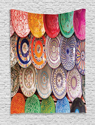 Ambesonne Traditional Handcrafted Marrakesh Multicolor