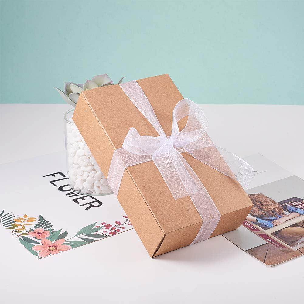Manulidad BENECREAT 914m 3mm Cinta de Organza Blanca Cinta Decorativa de Regalo Ornamento de Organza para Navidad Fiesta