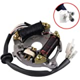 FLYPIG Magneto Ignition Stator Assembly for Yamaha PY50 PW50 Y-Zinger Peewee50 QT50 Motorbike 1981-2014