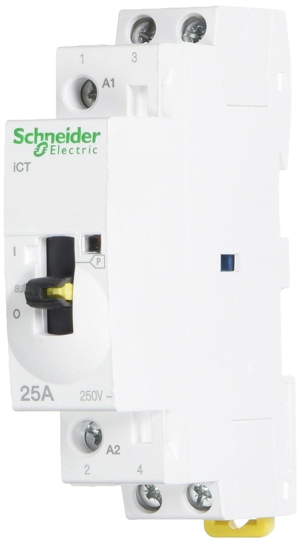 Schneider Electric A9 ° C21132 ICT Schü tz MANUALE DI Acti9 –  2 No 24 VAC, 50 Hz, White 50Hz A9C21132