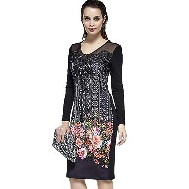 2378e0a9b7157 2776 Dodona Tasarım Özel Desenli Swarovski Taşlı Abiye Şık Abiye Gece  Kışlık Elbise-Siyah-