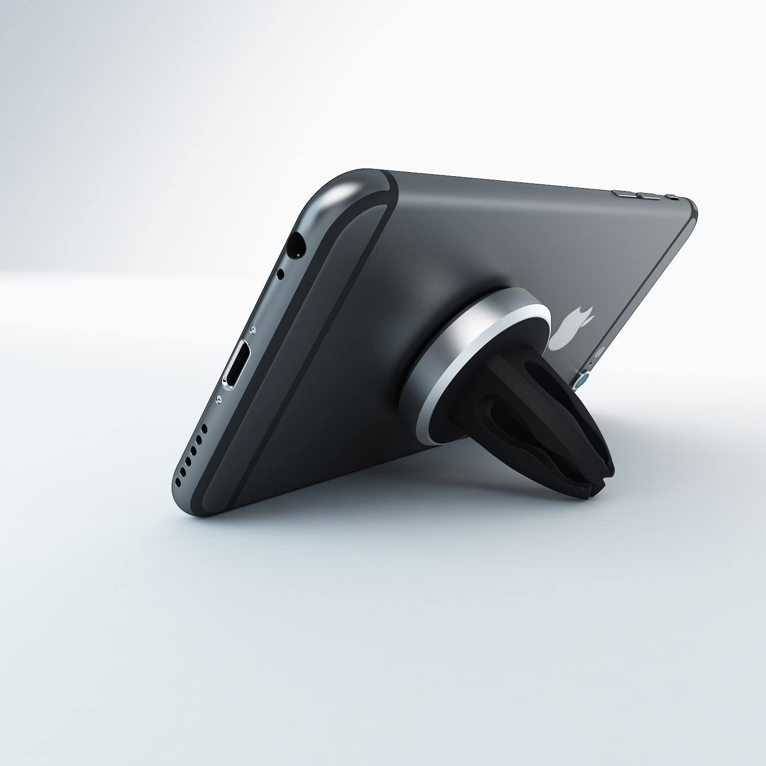 iPhone, Samsung, HTC, LG, Nokia, Blu, iPods, GPS Mengo Slim-Snap Aluminum Magnetic Air Vent Car Mount Holder For Universally Compatible