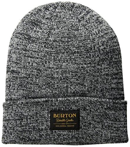 Burton Ski Hats (Burton Kactusbunch Tall Beanie, True Black/Stout White Marl, One Size)