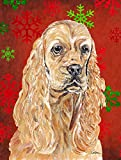 Caroline's Treasures SC9584CHF Cocker Spaniel Red Snowflake Christmas Flag Canvas, Large, Multicolor Review