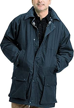 Countrywear Mens British Made Waxed Cotton Padded Quilted Jacket