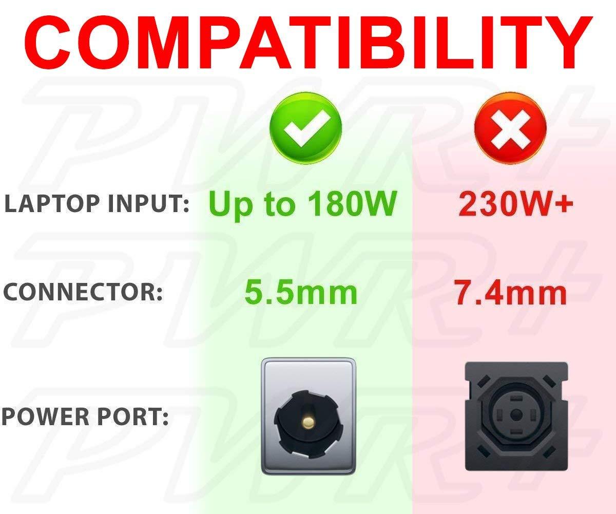 Amazon.com: PWR + 180 W adaptador de corriente para Asus G ...