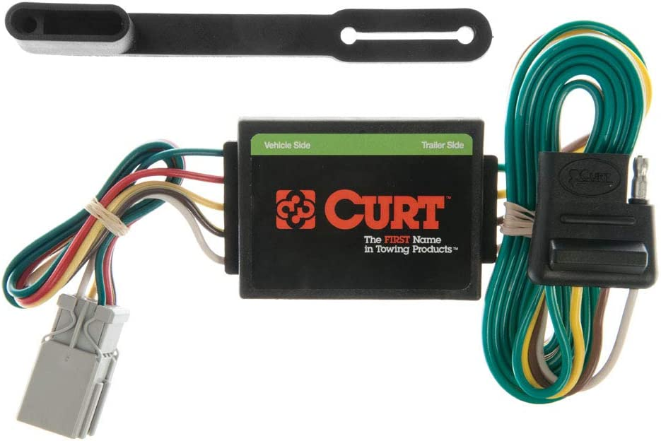 CURT 55336 Vehicle-Side Custom 4-Pin Trailer Wiring Harness for Select on national electrical code, earthing system, junction box, electrical engineering, custom axles, alternating current, circuit breaker, custom controls, custom engine, distribution board, custom furniture, custom interior, custom hitches, custom siding, custom chassis, knob-and-tube wiring, custom pipes, electric power distribution, electrical conduit, custom falcon, custom lights, power cable, extension cord, wiring diagram, ground and neutral, electric motor, custom doors, custom fans, three-phase electric power, power cord,