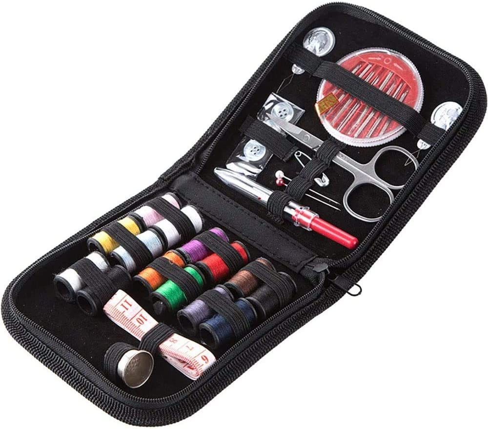 Children Girl Beginner Traveler DIY Gift for Adults Sewing kit,DIY Sewing Supplies Include Sewing Needles,Stainless Steel Scissors,Tape Measure etc,for Travel Home Emergency Mending Repairs