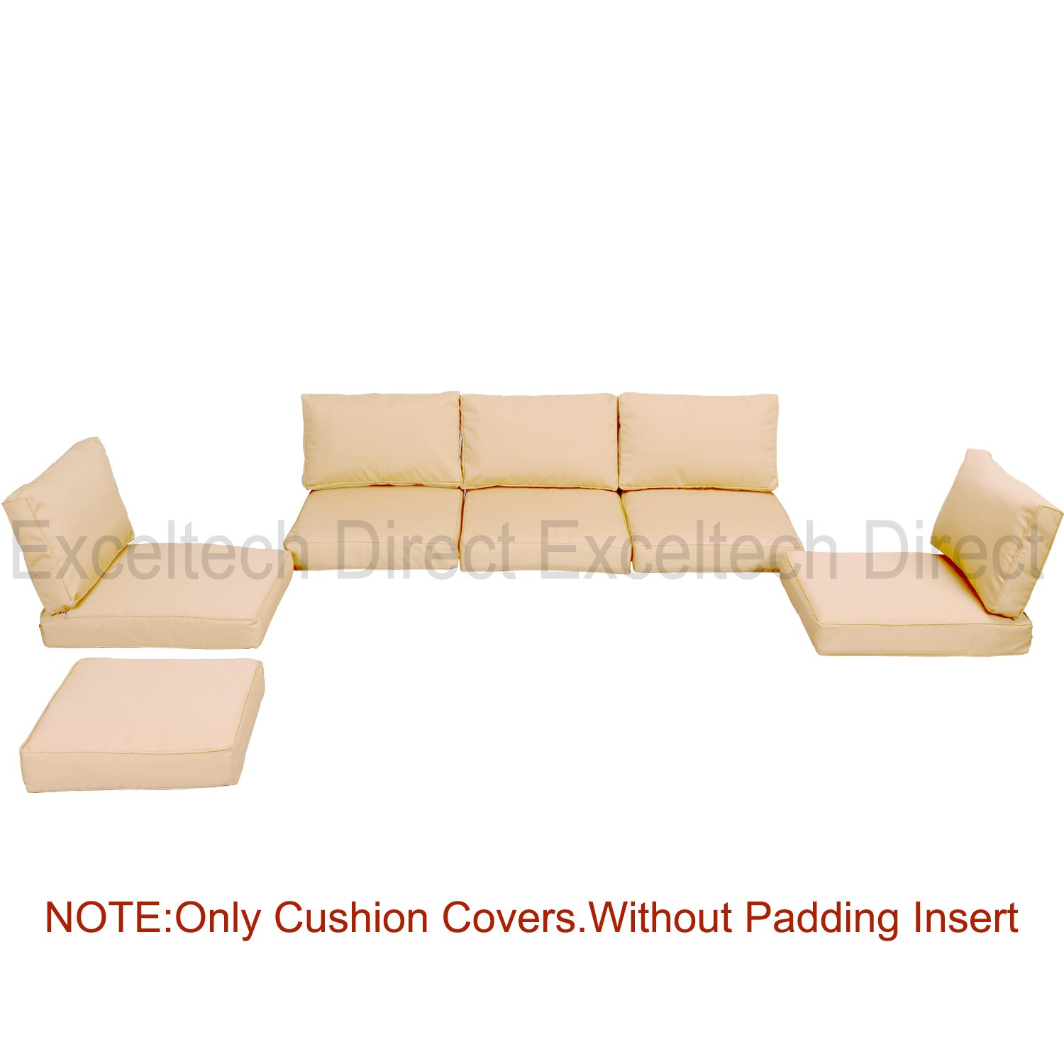 Do4U 11pcs 9002 Light Brown Sofa Cushion Cover Set by Do4U