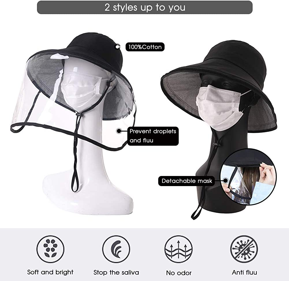 UV Protection Sun Hats Packable Summer Hat Women w//Ponytail Chin Strap 55-61CM
