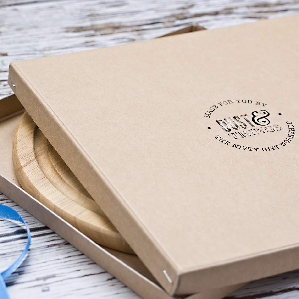 Geschenke zur Hauseinweihung Hochzeit Geschenk mit Gravur f/ürs Brautpaar Personalisiertes rundes Schneidebrett Jausenbrett Servierbrett Weihnachtsgeschenk f/ür Paare