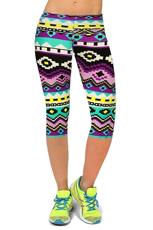 Ancia esercizio allenamento Capri leggings yoga Zumba collant pantaloni 2266d376ae1