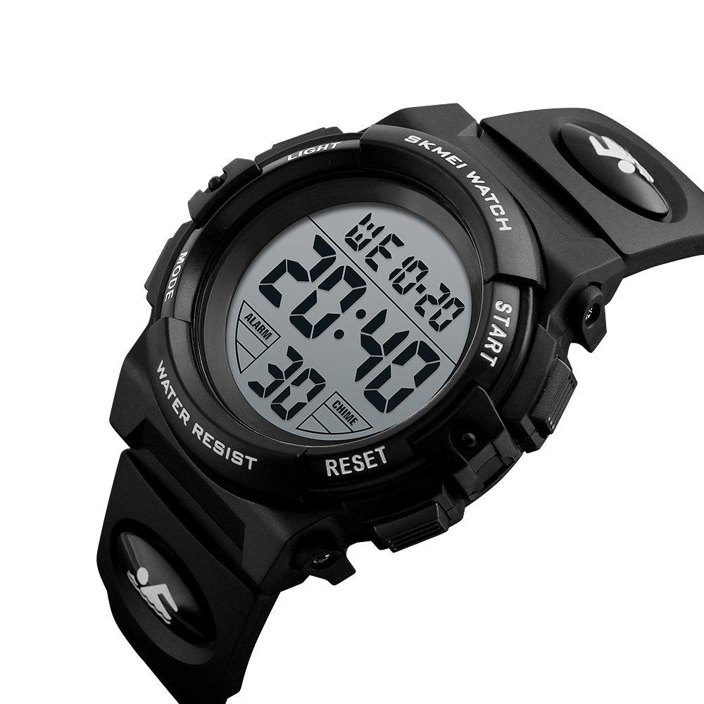 Amazon.com: Boys Waterproof Outdoor Sports Watches,Skmei Electronic LED Digital Multifunction Girls Kids Wrist Watch,W/ Alarm Back Light (black): Watches