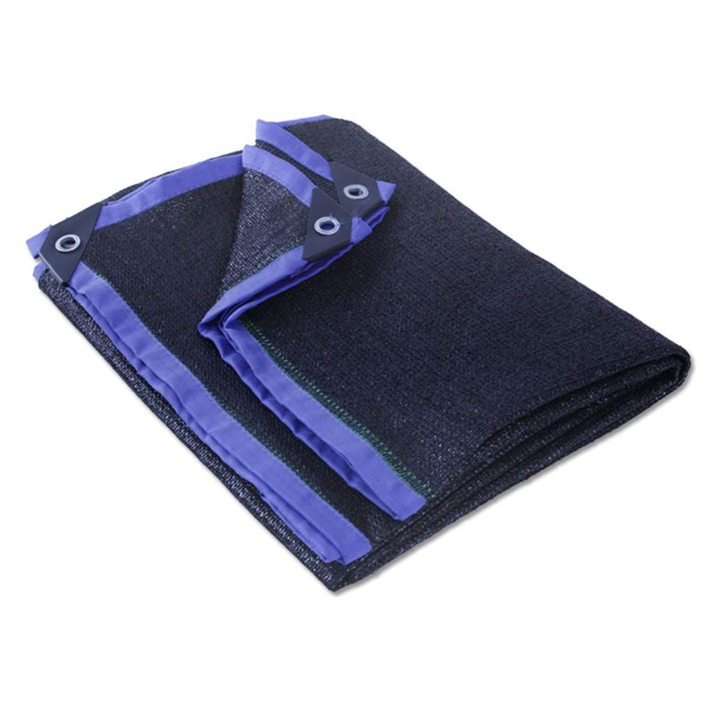 DHMHJH Im Freien Verdickung Verschlüsselung Sonnenschutz staubdicht Net Schatten Net blau Multi-Größe optional