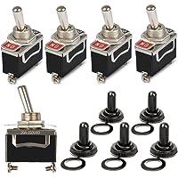 OFNMY 5 st vattentät vippströmbrytare AC 125 V 20 A off-ON 2 stift 2 positioner mini vippströmbrytare för Arduino – med…