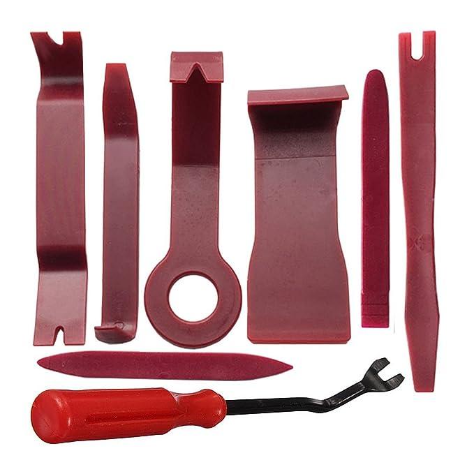 YOTINO Auto Zierleistenkeile Set Demontage Werkzeuge Universal Auto T/ürverkleidung und Platten 11 St/ück verschiedene Formen Rot