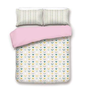 Amazoncom Pink Duvet Cover Setfull Sizegrunge Geometrical Shapes - Geometrical-shapes-on-bedding