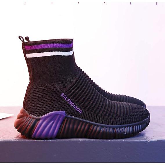 Zapatos para Caminar de Las Mujeres Zapatos de Correr Calcetines de Moda Zapatillas de Deporte de Malla Cojín de Aire Atlético Gimnasio Zapatos Casuales ...