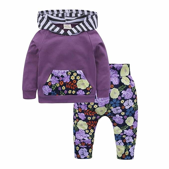 Amazon.com: Pollyhb - Conjunto de ropa para bebés y niñas ...