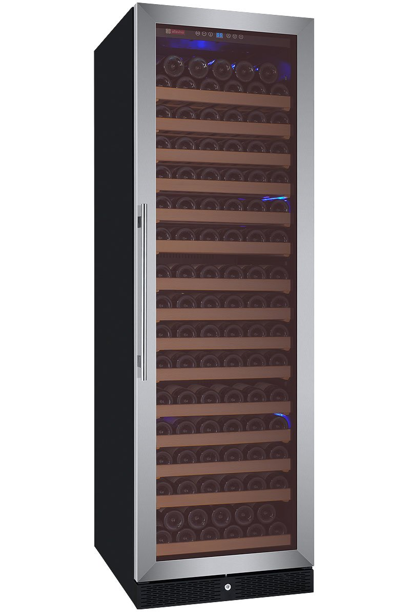Allavino FlexCount Classic Series 174 Bottle Single Zone Wine Refrigerator Right Hinge Stainless