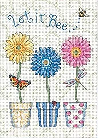 Dimensions Needlecrafts Counted Cross Stitch, Let It Bee - Floral Counted Cross Stitch