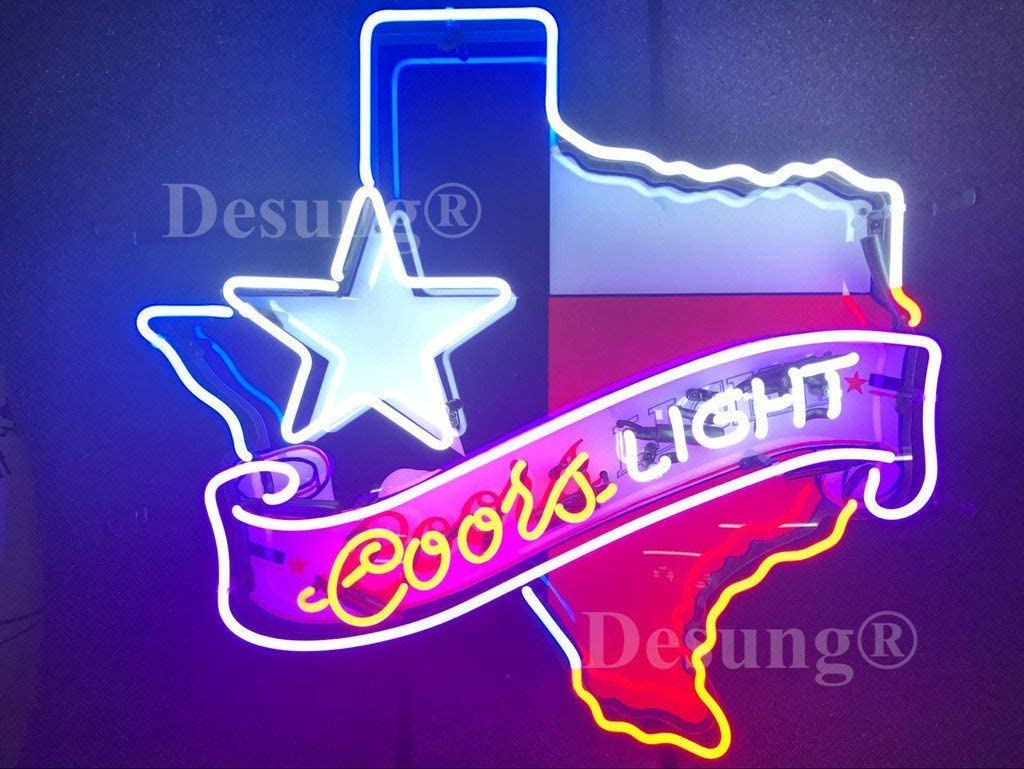 Lone Star Beer Neon Sign Lamp Light Beer Bar With Dimmer