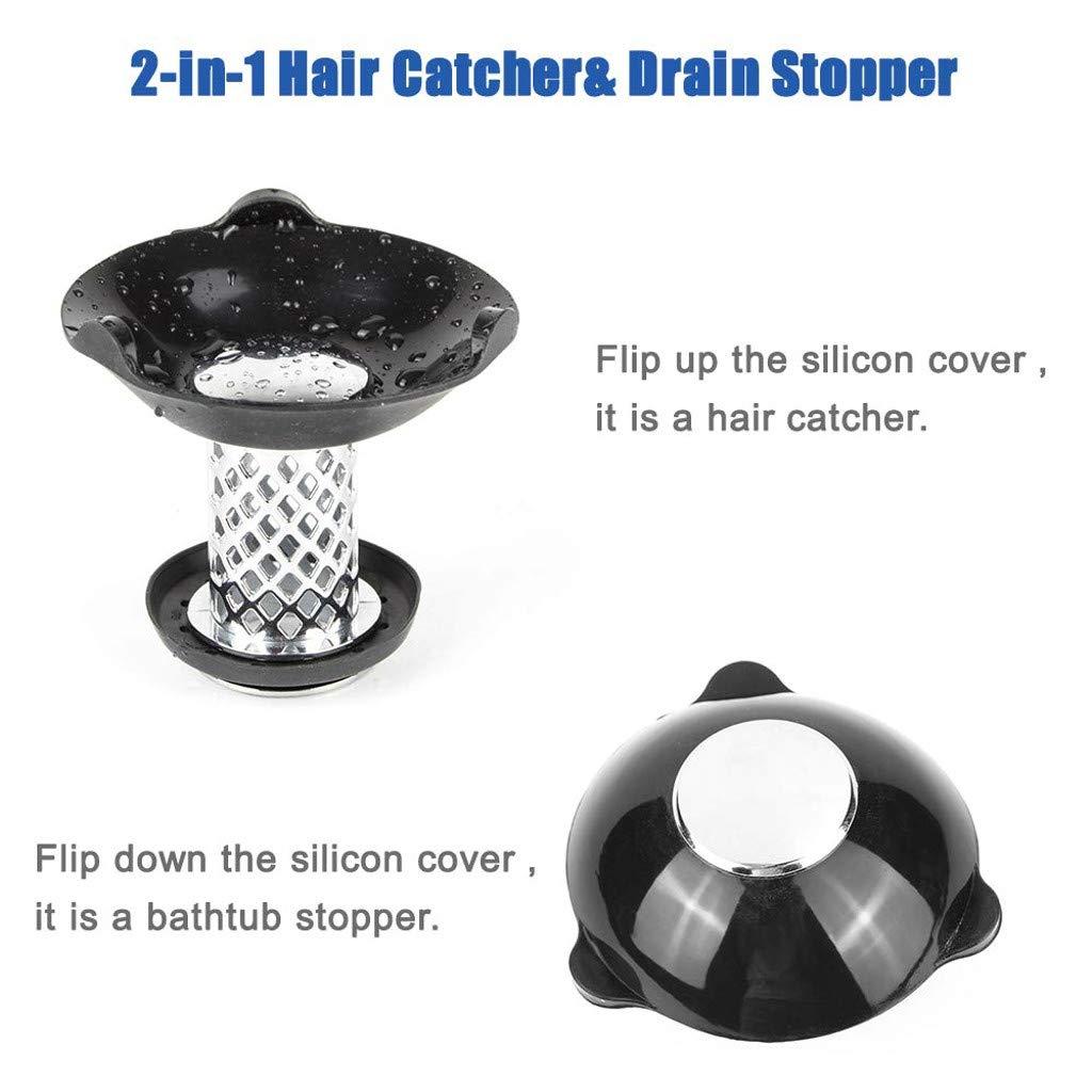 5PC Badewannenstopper Hair Catcher f/ür Duschablauf 2 in 1 Verhindern Sie die Verstopfung der Haare durch Schwarz AMhomely/® 1PC+4PC NEU!2019 Bad Bodenablauf Anti-Blocking-Tool