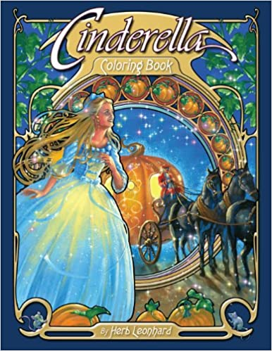 Cinderella Coloring Book Herb Leonhard 9780976355588 Amazon Books