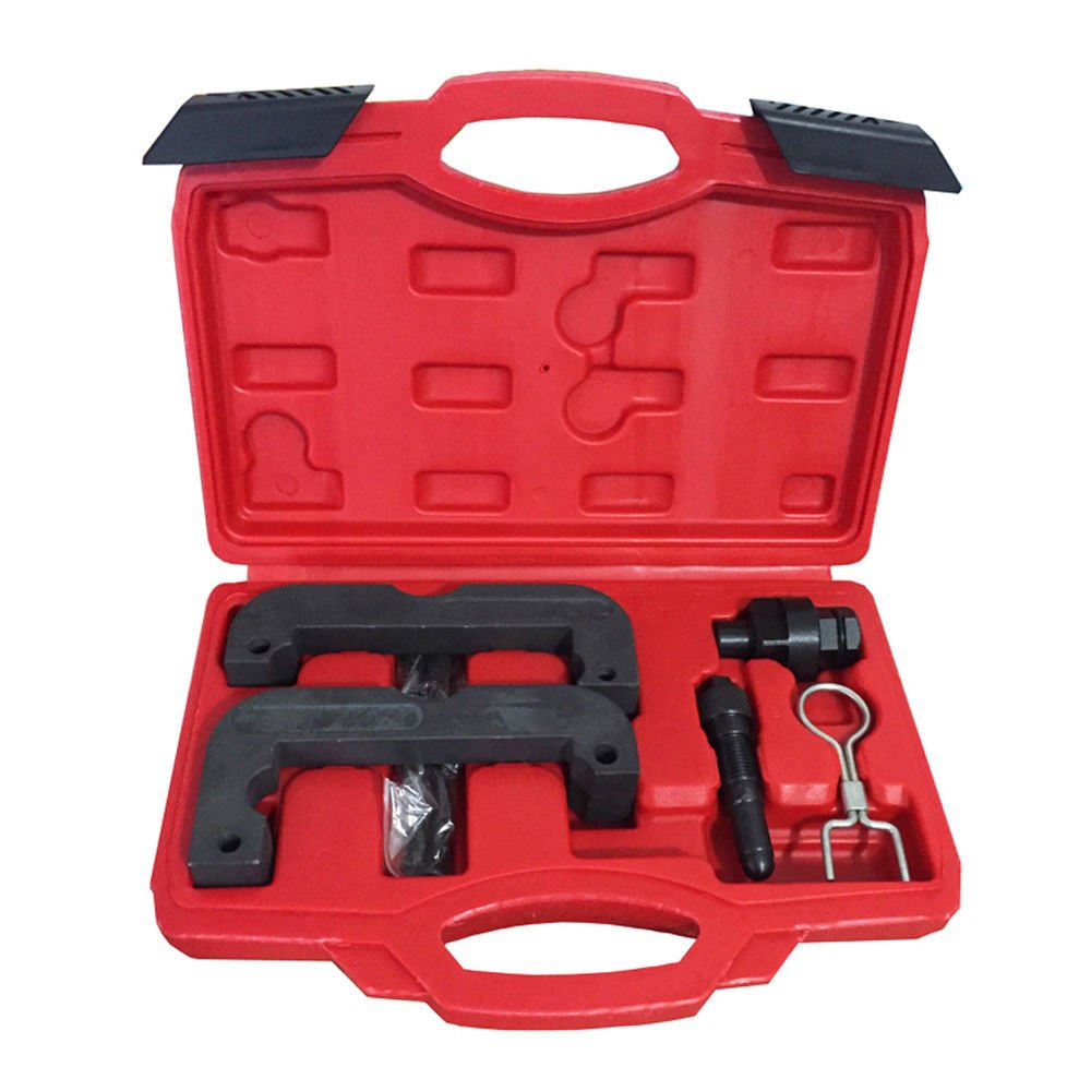 DOMINTY T40133 Engine Timing Camshaft Clamp Locking Tool Set for VW Audi 2.8T 3.0T Q5/A6L2.8 C7 Skoda 4 cyl 5Pcs